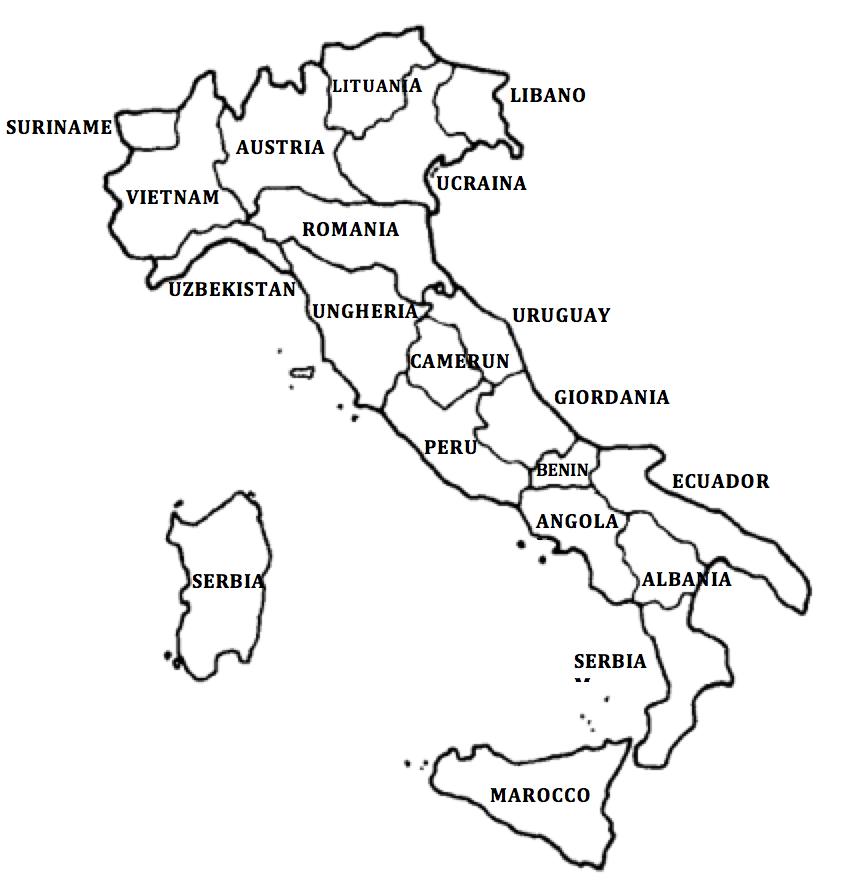 Cartina regioni italia da colorare tomveelers for Nomi delle donne della politica italiana